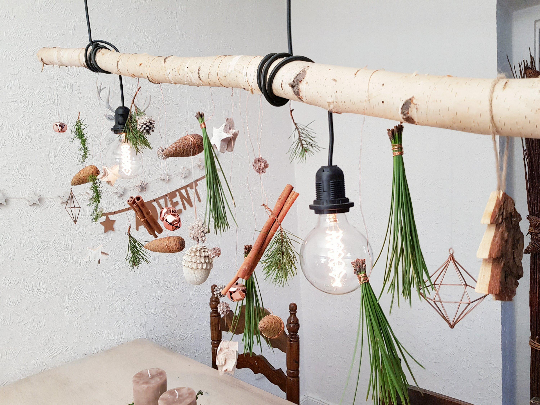Adventlich Dekorierte Lampe Tischdeko