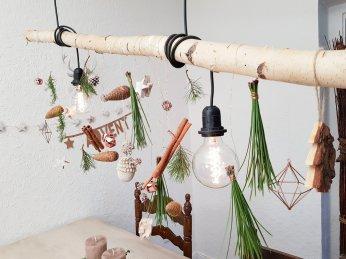 adventlich dekorierte Lampe - TIschdeko