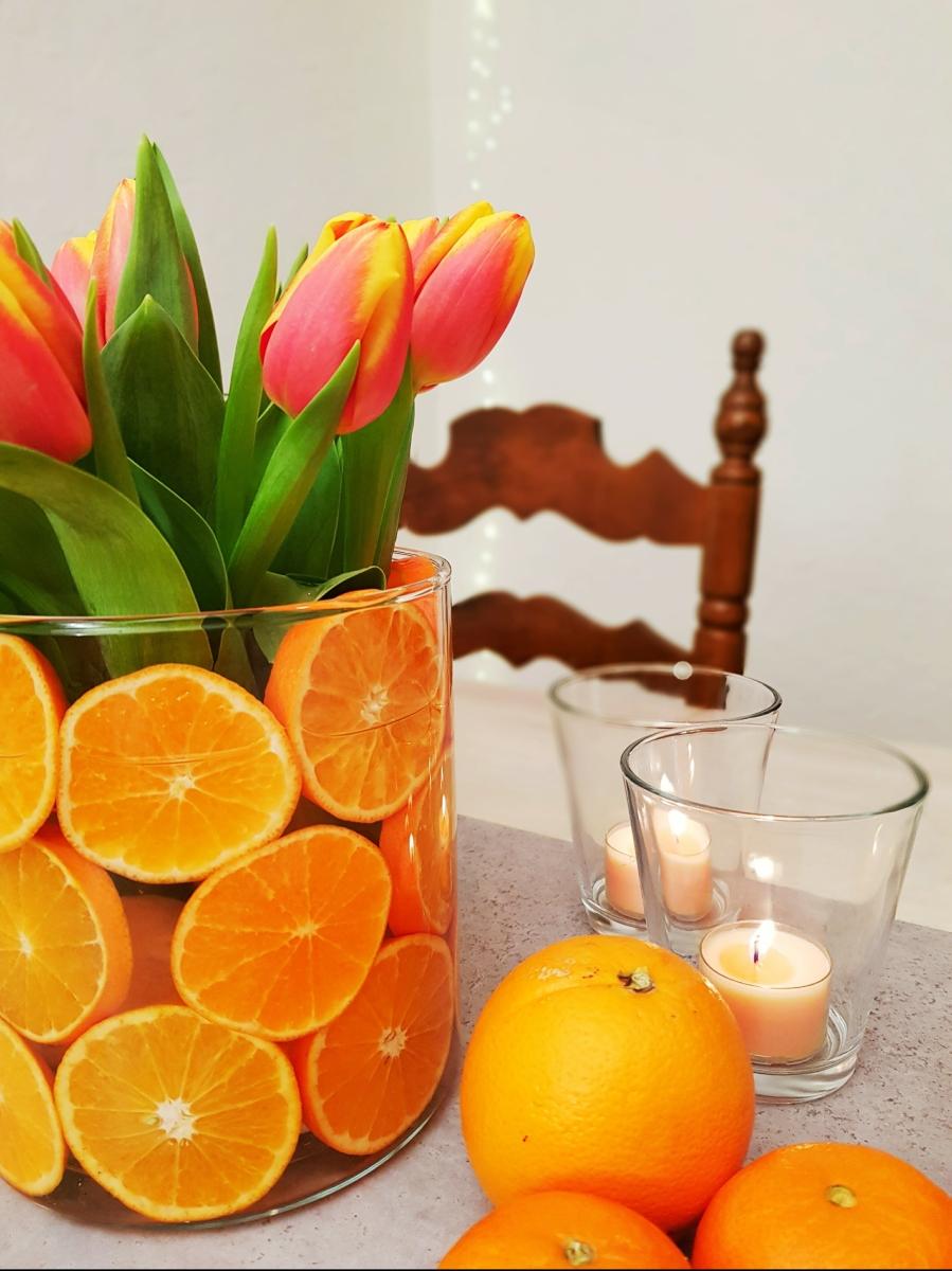 Zeit für Tulpen {Dekotipp mit DIY-Citrusvase}