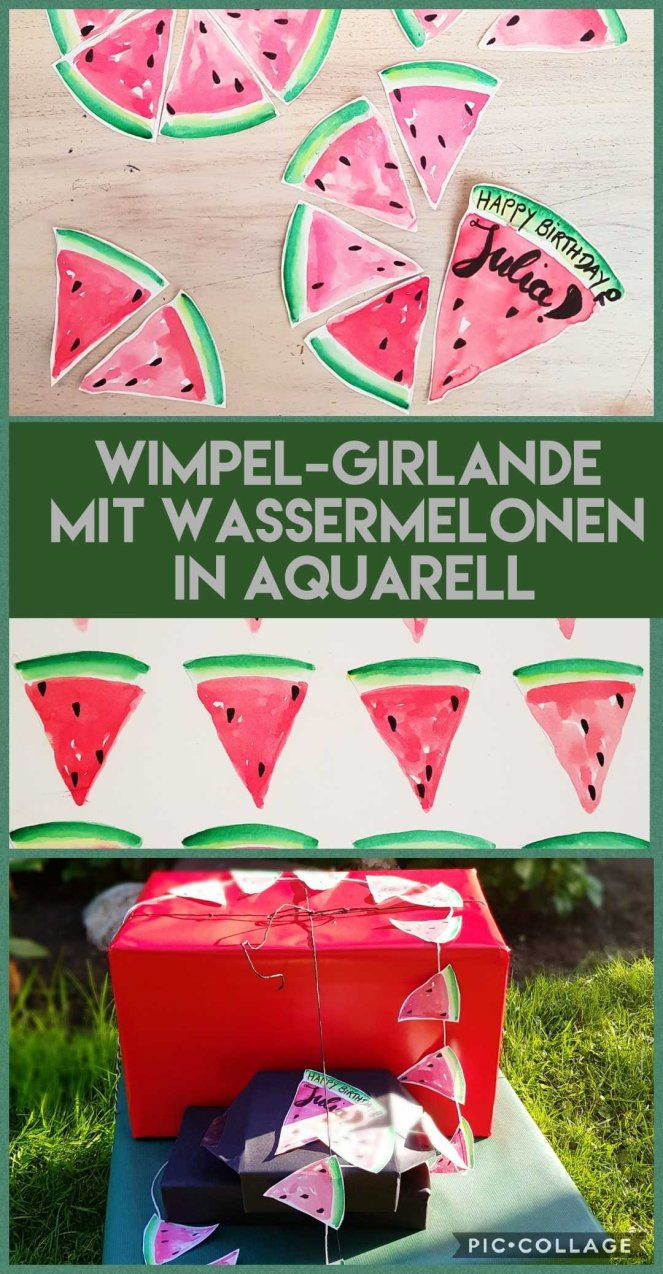 Wimpelkette / Girlande mit Wassermelonen in Aquarell.jpg