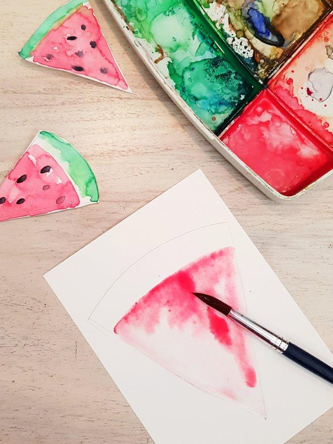 Wassermelonen-Girlande Fruchtfleisch malen aquarell.jpg