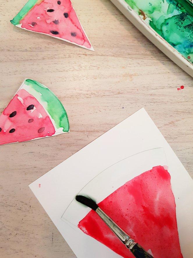 Wassermelonen malen aquarell Schale.jpg