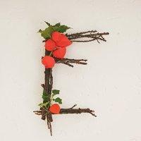Upcycling aus Zweigen - {Teil I}  Herbstliches Letter-DIY