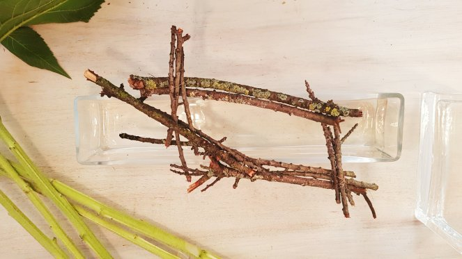 Gitternetz aus Ästen vom Kirschbaum zur Stütze von Blumen.jpg