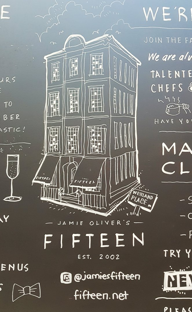 Chalkboard Jamie Olivers`s Fifteen, London