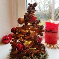 Kleiner Weihnachtsbaum aus Zimtstangen {DIY}