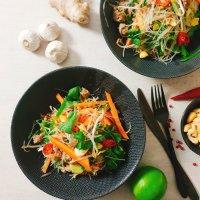 Vietnamesischer Glasnudel-Salat mit Hackfleisch